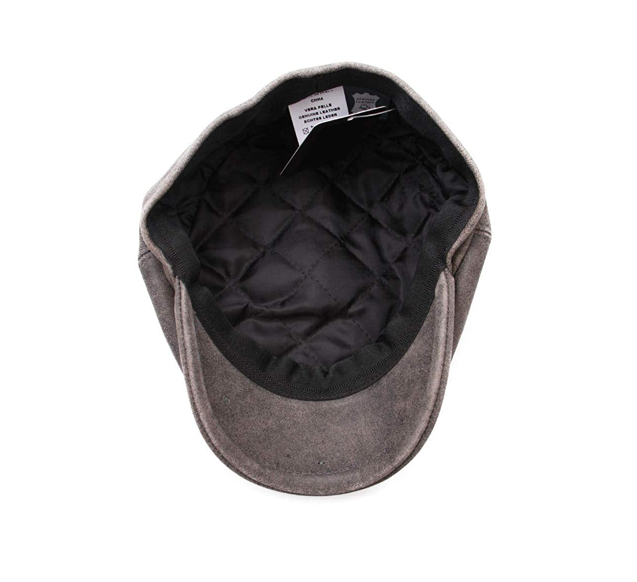 Classic Italy Maxim Leather Flat Cap Water Repellent