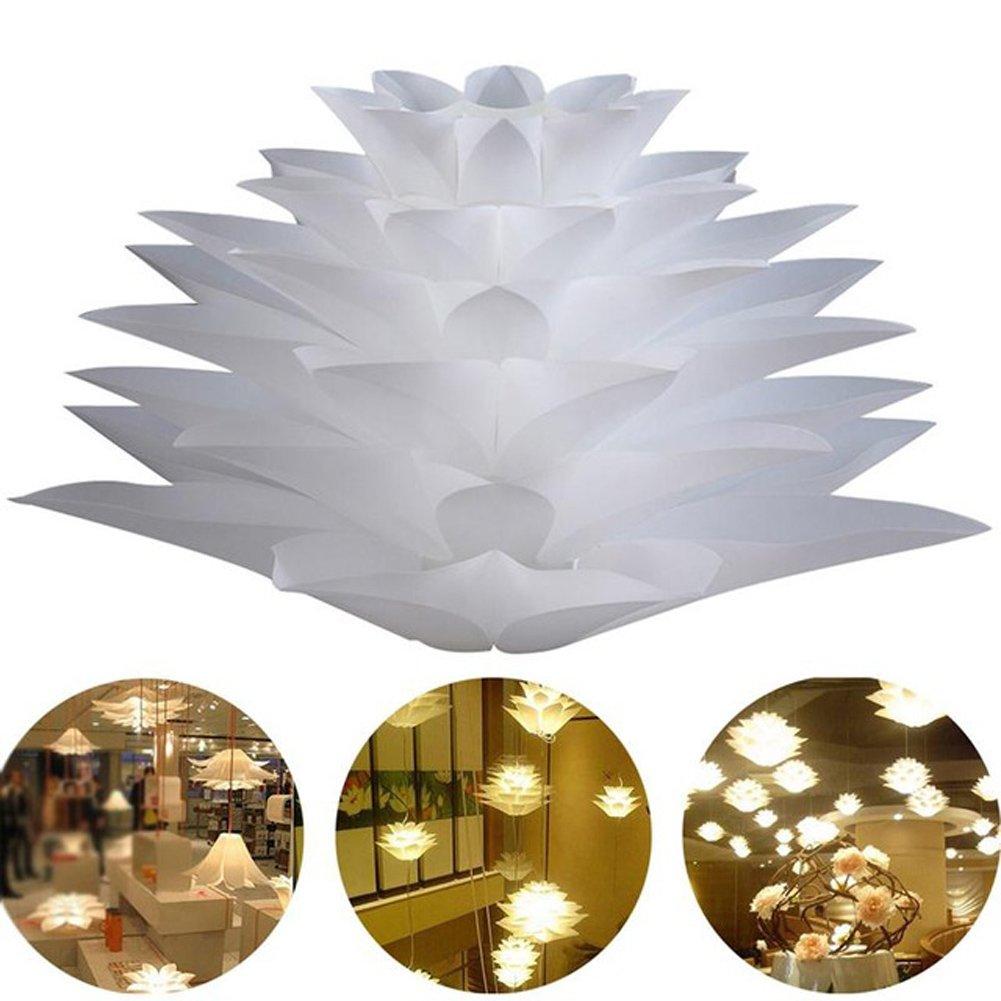 Myfei DIY Lotus Abat-jour suspendu - Décoration de salle de bain en polypropylène - Lampe moderne suspendue LED - Abat-jour pour décoration d\'intérieur.