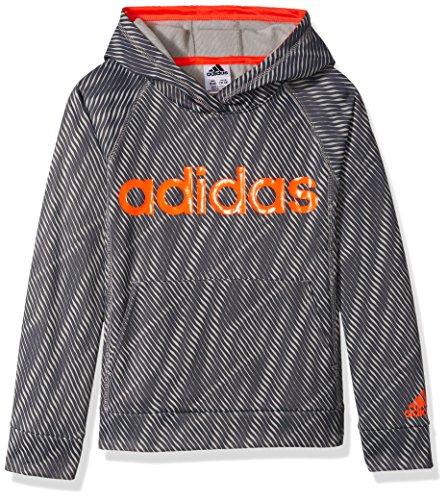adidas Boys' M Athletic Pullover Hoodie, Grey Five, M