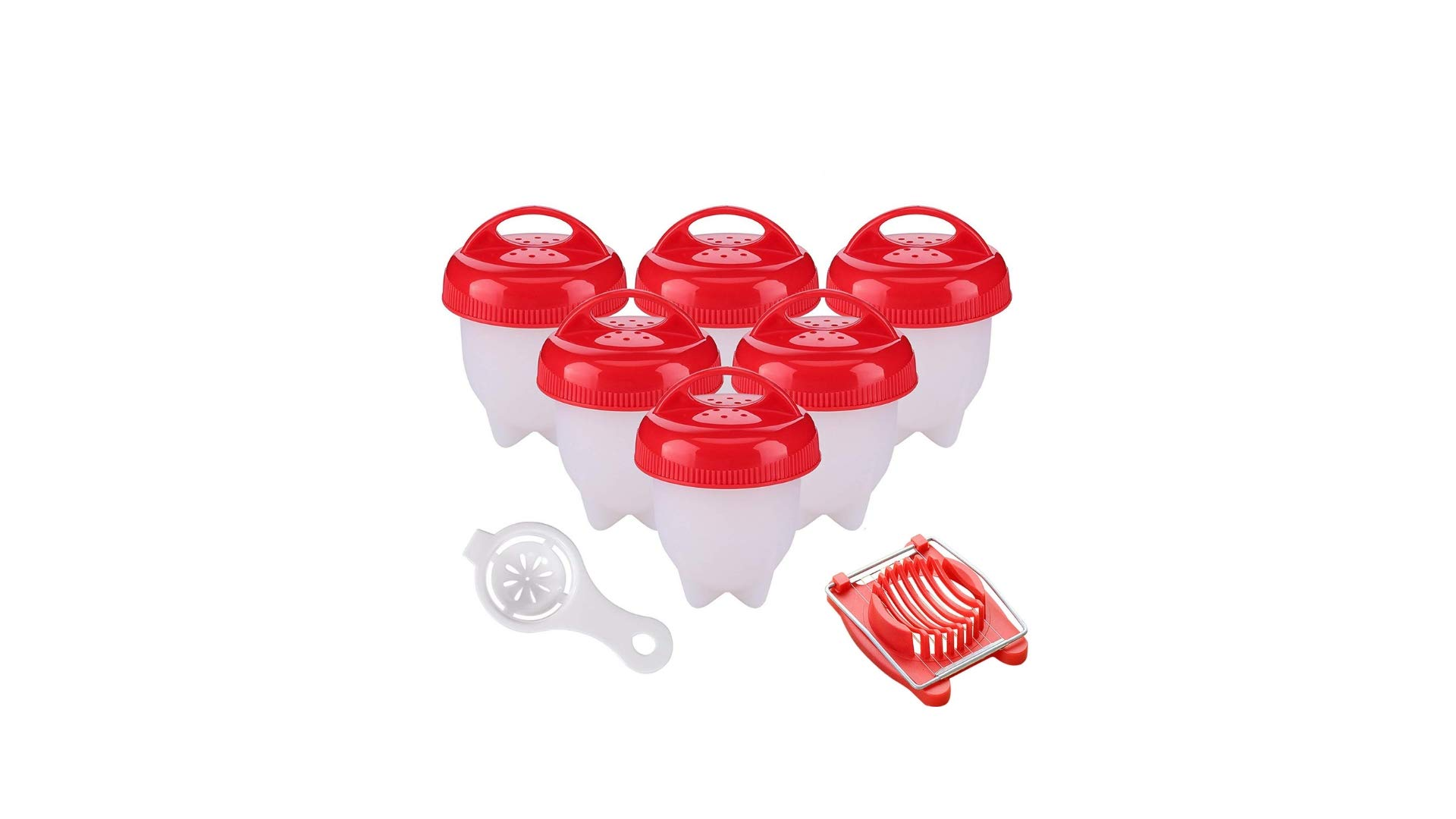 Egg Cooker ,Hard Boiled Eggs without the Shell,6PACK,Silicone Egg Boil,Soft Maker Egg Cooker,, Non-Stick Silicone, As Seen On TV