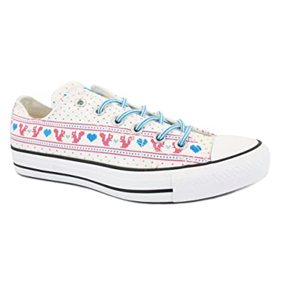 f396743a8031 Converse Chuck Taylor All Star Wild Winter Ox 532142 Womens Laced Textile Trainers  White - 9  Amazon.co.uk  Shoes   Bags