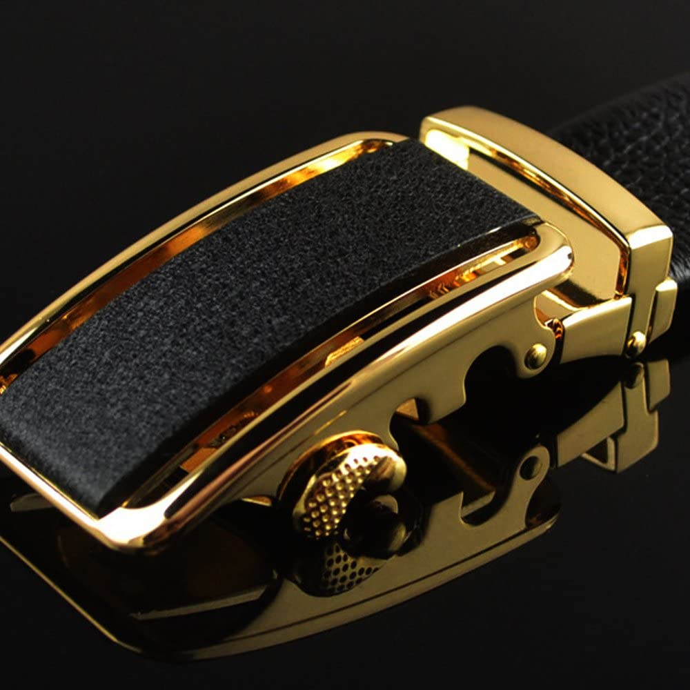 Mens Leather Belt With Automatic Buckle Belt