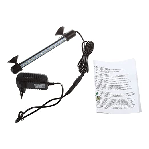 SODIAL(R) 18 LED Lampara Tira Acuario Pecera Sumergible Submarino Luz Blanco: Amazon.es: Productos para mascotas
