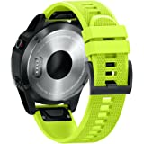 ANCOOL for Garmin Fenix 5 Band Easy Fit 22mm Width Soft Silicone Watch Strap for Garmin Fenix 5