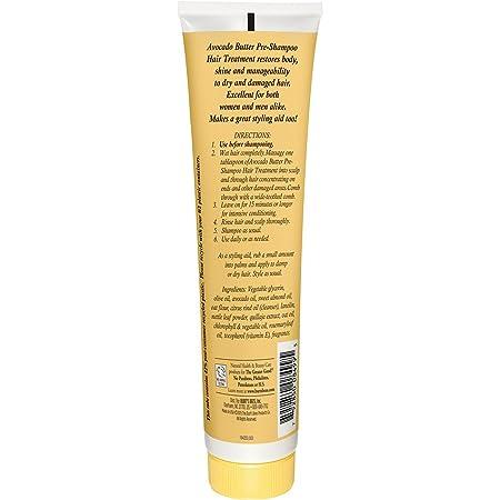 Burts Bees - tratamiento pre champú cabello con manteca de aguacate - 4,34 oz.: Amazon.es: Salud y cuidado personal