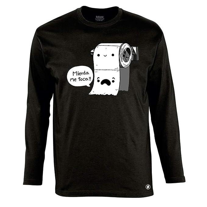 85362eebd Camiseta Manga Larga Divertida Mierda me Toca - Serigrafía  Amazon.es  Ropa  y accesorios