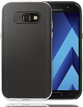 NALIA Funda Carbono Compatible con Samsung Galaxy A3 2017, Carcasa ...