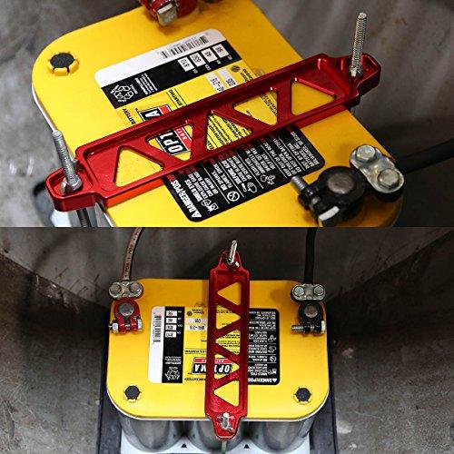 DNA Motoring BATTLONGRD Battery Tie Down Mount - Down Battery Hold Bracket