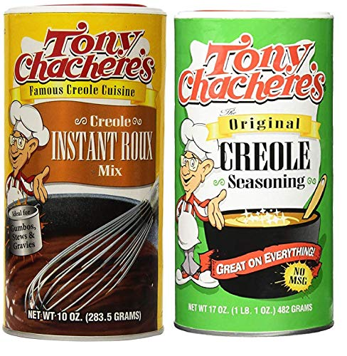 - Tony Chachere's No MSG Cajun Creole Cooking Bundle - 1 each of Tony's Creole Instant Roux Mix 10 Ounces and Tony's Original Creole Seasoning 17 Ounces