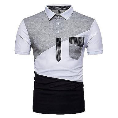 newest ff605 95842 Poloshirt Herren Polohemd Slim Fit Sport Casual Geometrische ...