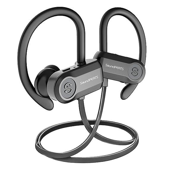 f5035eb8236 SoundPEATS Bluetooth Headphones Sports Wireless Earbuds, IPX7 Waterproof  Headphones with Mic, Richer Bass HiFi