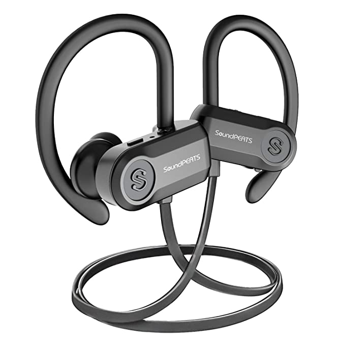 1943d4155b6 Bluetooth Headphones, SoundPEATS Sports Wireless Earbuds, IPX7 Sweatproof  Headphones with Mic, HiFi Stereo