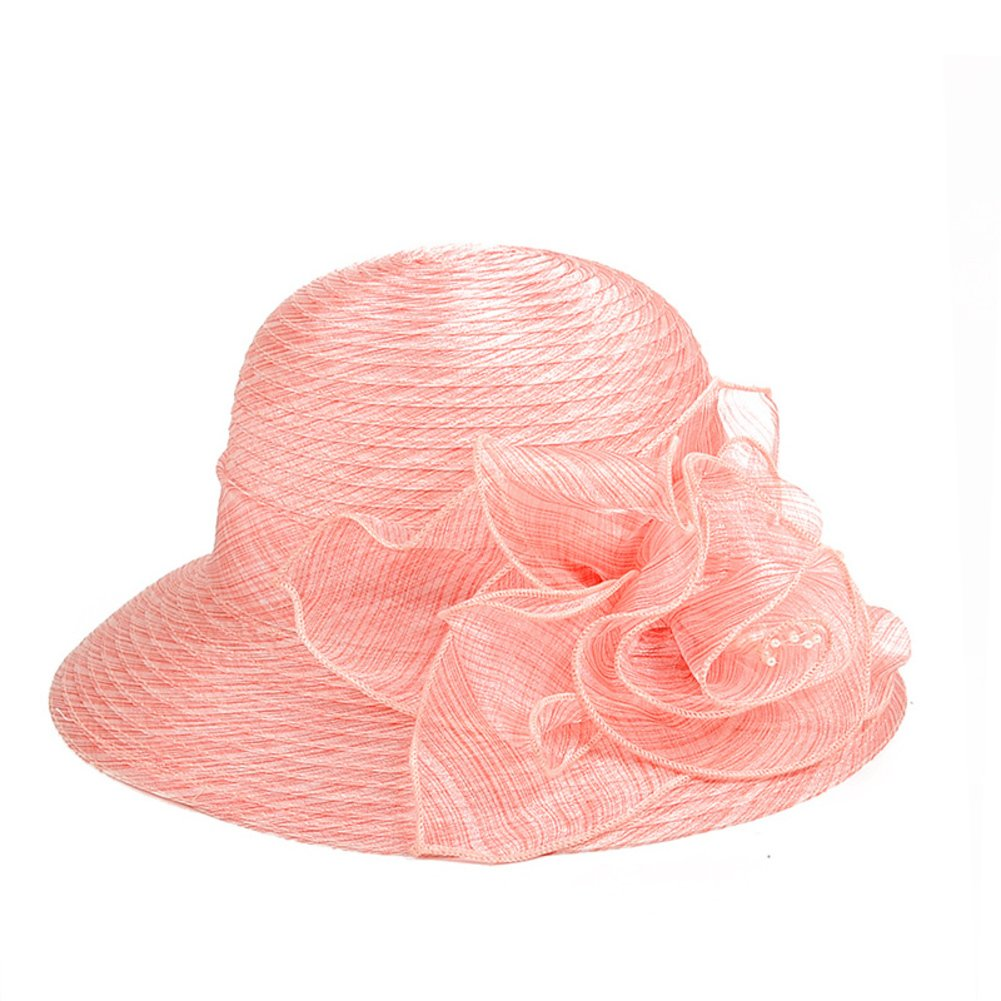 Sun Protection Cap,Adjustable Wedding Uv Protection Beach Hats Organza-C M