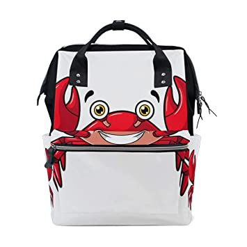 eb382935964 Beach Creature Happy Blood Red Crab Large Capacity ... - Amazon.com