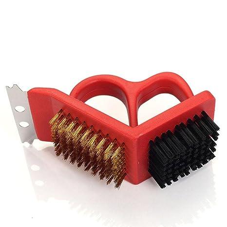Horno asado Limpieza Cepillos de alambre + Cepillo de plástico + ...