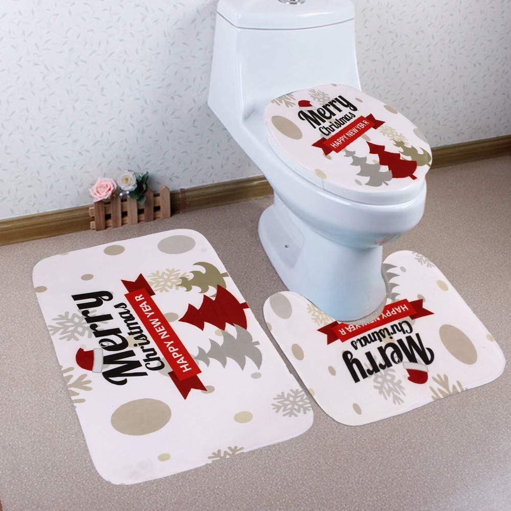 Amazon.com : Filove Merry Christmas Bathroom Sets (One Size, G