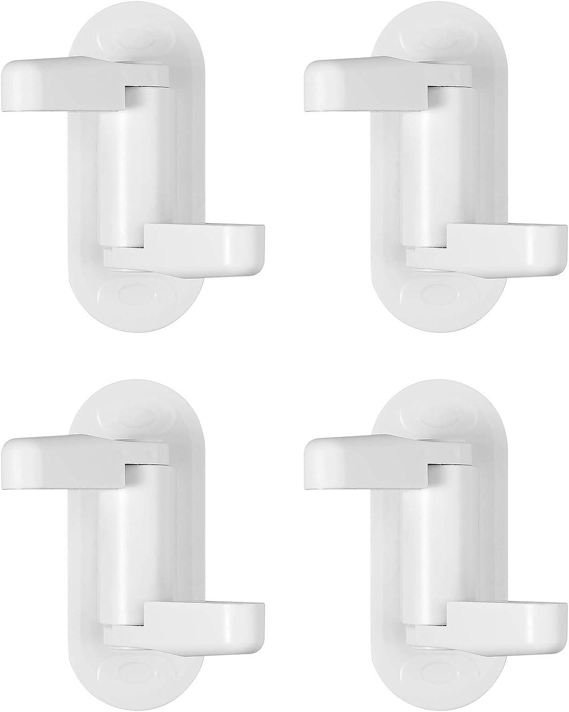 4 Pcs Bloqueo de Seguridad para Beb/és Mejorado Manija de Seguridad Para Ni/ños ABS Pomo de Seguridad de Puerta para Beb/és Acr/ílico Cerradura de Palanca para Puertas Ventanas Grifos Blanco