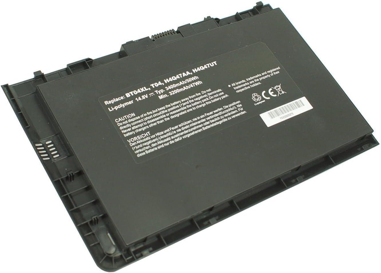 Powerforlaptop Laptop/Notebook Replace Battery for BT04XL HSTNN-DB3Z HP EliteBook Folio 9470 Ultrabook HSTNN-IB3Z HSTNN-I10C 9470m Ultrabook 687517-241 687945-001 BA06 BA06XL H4q47aa 14.8V-52WH
