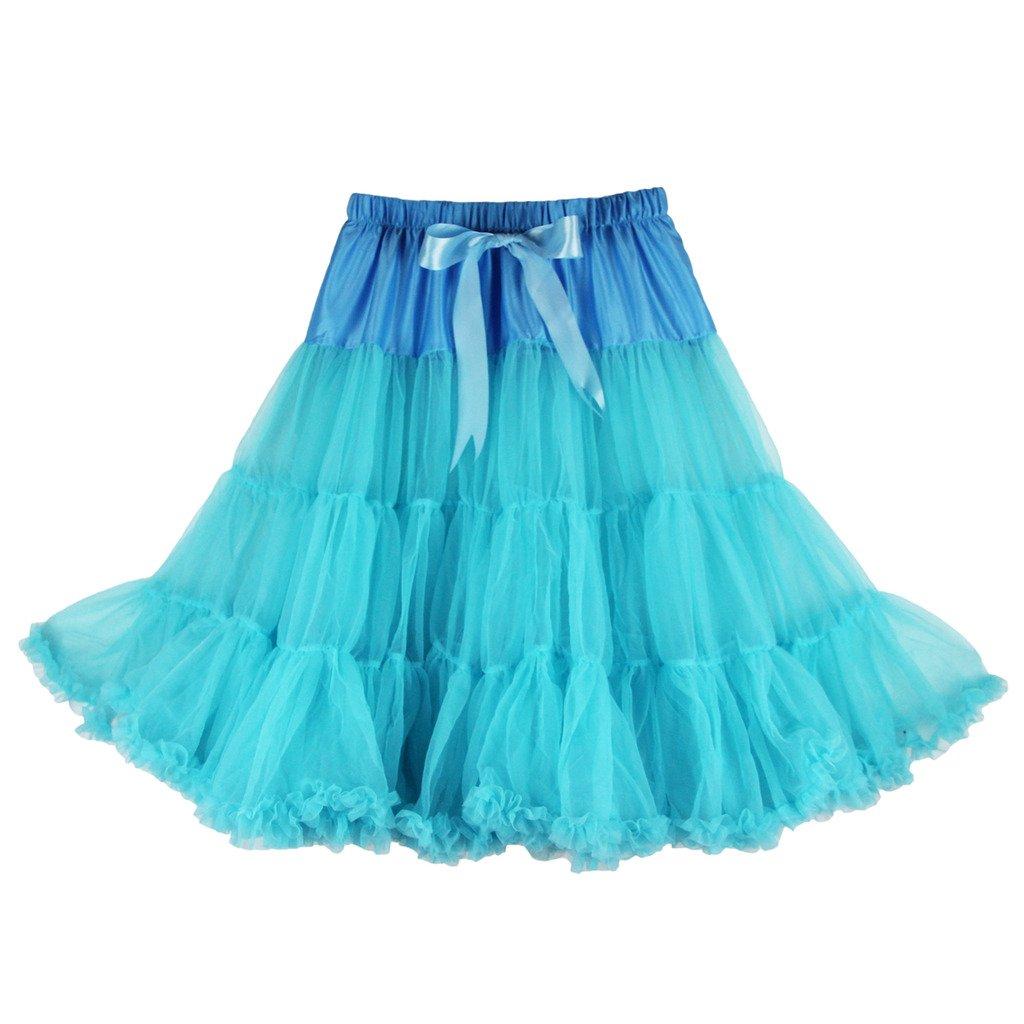 "Buenos Ninos Womens 50s Vintage Petticoat Skirts Net Underskirt Slips for Wedding Party Dress 25.5"" Length"