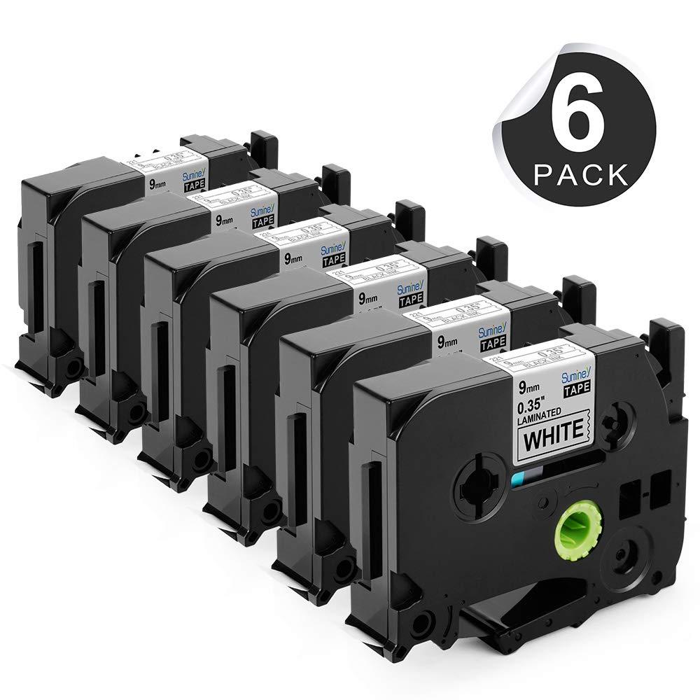 Compatible Brother TZ221 Label Tape 9mm Nero su Bianco
