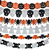 halloween electronic props - 6Pcs Precious Halloween Easter Paper Chain Garland Decoration Prop Pumpkin Bat Ghost Spider Skull Shape OH