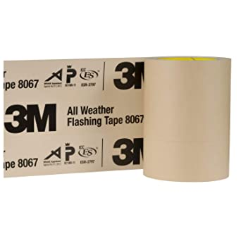 3m Adhesives 51115316210 All Weather Flashing Tape 8067 Tan 6 In X 75 Ft Slit Liner 2 4 Slit Amazon Ca Industrial Scientific
