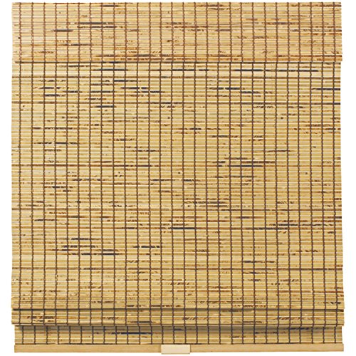 Cordless Woven Wood Bamboo Roman Shade Tortoise Shell (35x64) (Tortoise Shell Blinds)