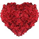 NALER 花びら フラワーシャワー バレンタインデー バラ造花 薔薇の造花 フラワー 赤 約2000枚 パーティーグッズ プロポーズ 結婚式 誕生日 お祝い 二次会