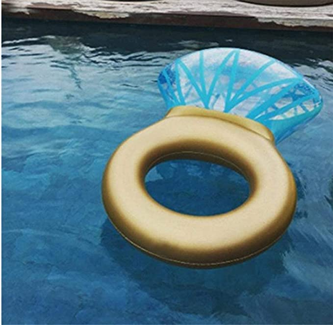 Gigante Inflable Anillo De Diamante Piscina Flotador Balsa Grande para Despedida De Soltera O Engagement Fiesta De Agua Al Aire Libre Salón De Juguete para ...