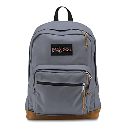7a9fb114e8be Amazon.com  JanSport Right Pack Laptop Backpack - Pewter Blue ...