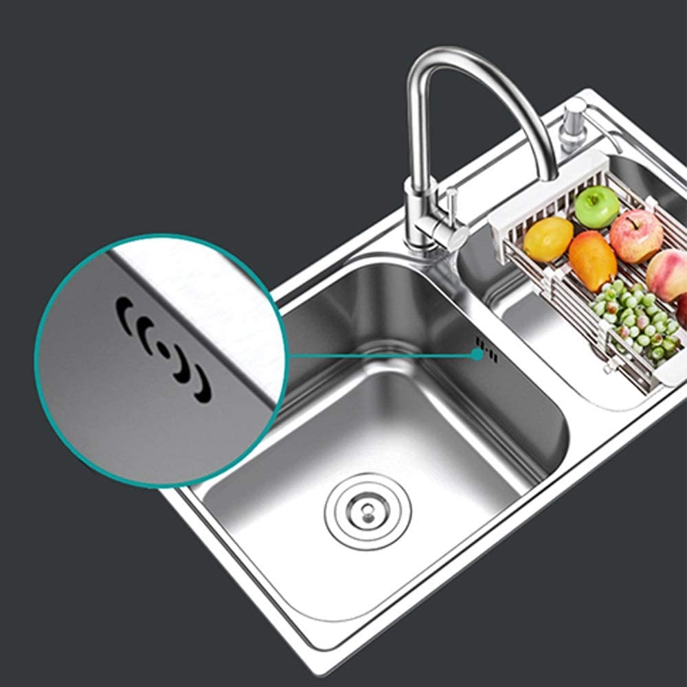 Sliver Durable Basket Drains with 4.5 Diameter Perfect for Kitchen Sinks Sliver Ditto 3PCS Kitchen Sink Strainer Anti-Clogging Stainless Steel Drain Filter with Perforated Holes Durable Basket Drains with 4.5 Diameter Perfect for Kitchen Sinks