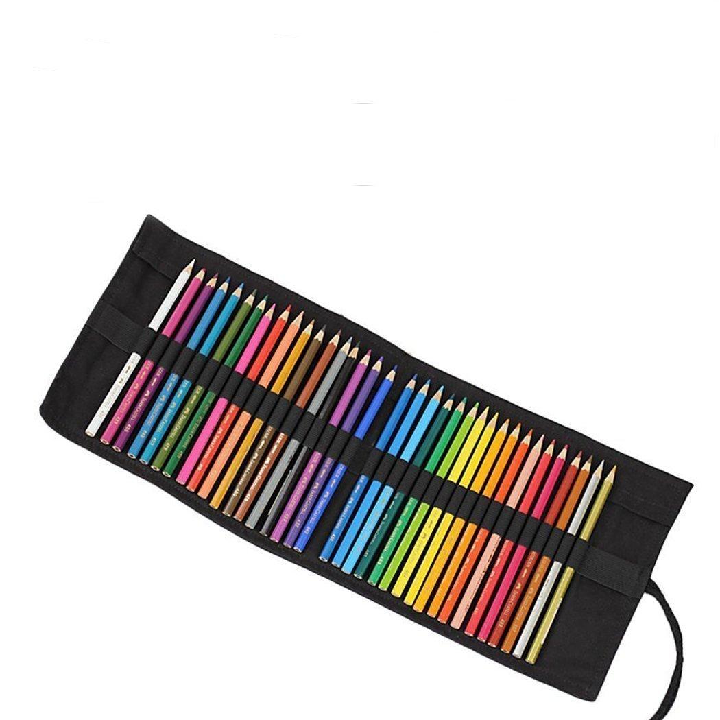 Abar/ía Bolso para l/ápices No Incluyendo los l/ápices Bolsa Organizador l/ápices para Infantil Adulto Estuche Enrollable para 36 lapices Colores
