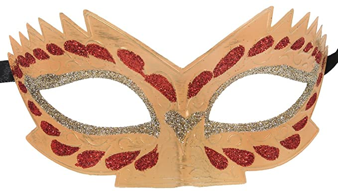 White Sparkling Venetian Mask - Masquerade Party Costume
