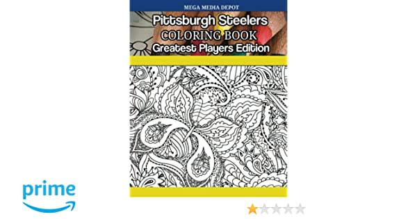 amazon com pittsburgh steelers coloring book greatest players
