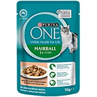 Purina One Adult Hairball with Chicken Wet Cat Food, 12 Pouch 0.92 kilograms