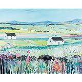 """Janet Bell """"Across The Fields"""" Canvas Print, Cotton, Multi-Colour, 1.80 x 40.00 x 50.00 cm"""