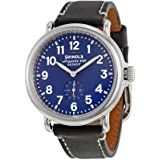 Shinola The Runwell Royal Blue Dial Black Leather Unisex Watch S0100027