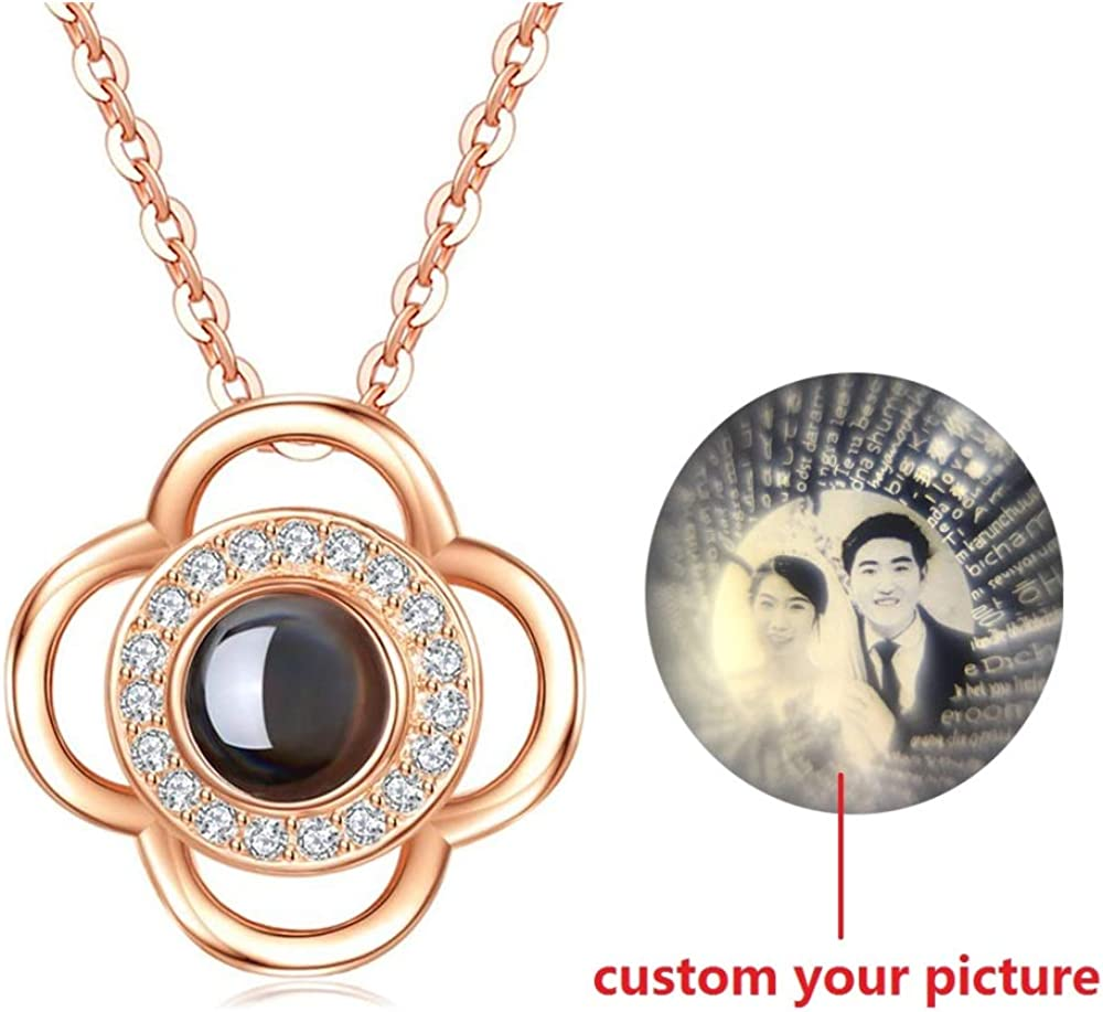 The Memory of Love Nanotechnology Necklace Jack-F Custom Projective Photo Necklace I Love You in 100 Different Languages 925 Sterling Silver Girls Pendants Picture Necklace