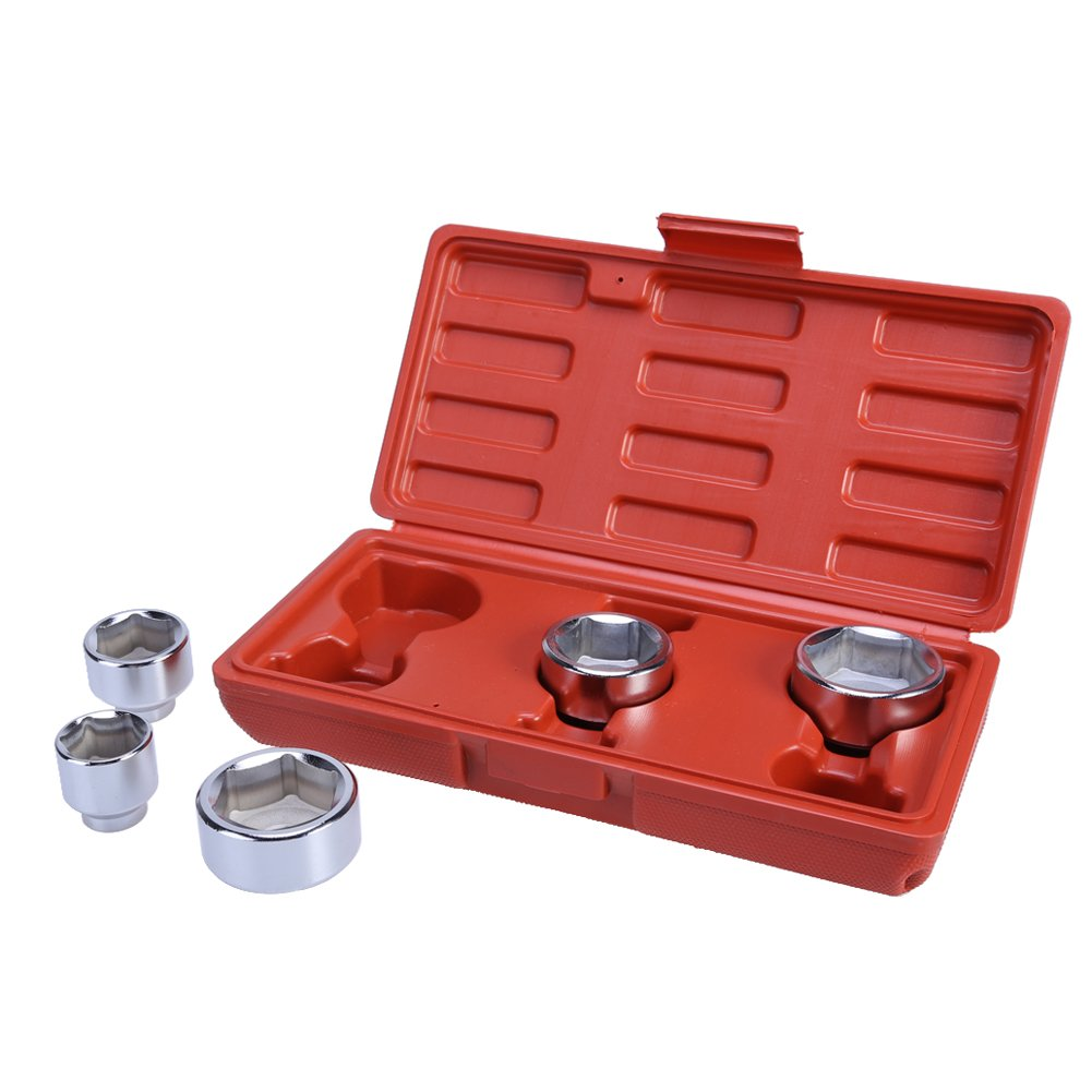 WinnerEco 5pc 3/8'' Oil Filter Socket Set Removal Car Garage Tool 24mm 27mm 32mm 36mm