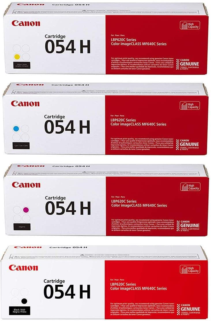 1 Pack MF644Cdw 3025C001 Canon Genuine Toner High Capacity for Canon Color imageCLASS MF641Cdw Cartridge 054 Yellow MF642Cdw LBP622Cdw Laser Printers
