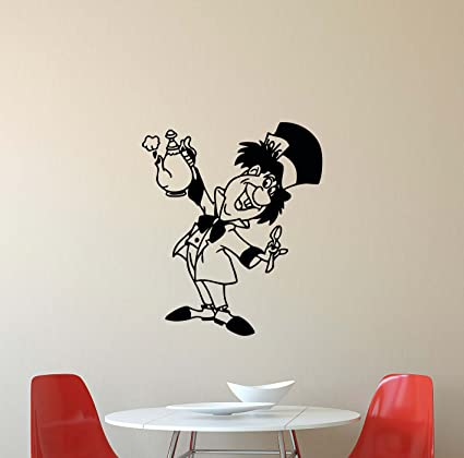 Amazon.com: Mad Hatter Wall Decal Alice In Wonderland Walt Disney ...