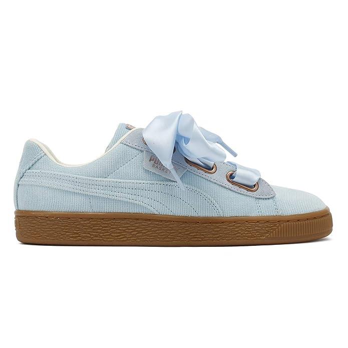 493cfed676f Puma Womens Cerulean Blue Corduroy Basket Heart Trainers  Amazon.co.uk   Shoes   Bags