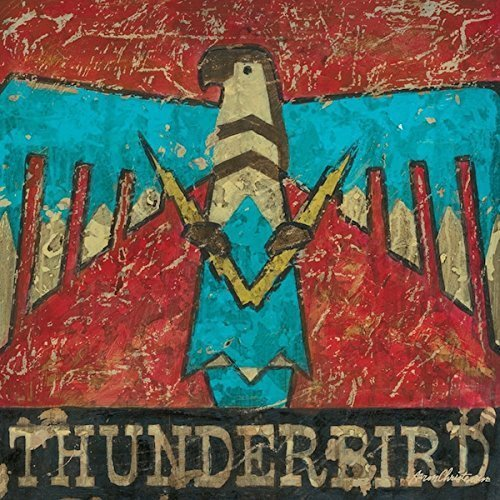 Southwest Art- Native American Retro Thunderbird- Stretched Canvas Wall Art Reproduction By Aaron Christensen - Ideal for the southwestern, cowboy or retro interior.