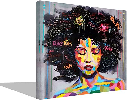 Lips Graffiti Art Printed on Gallery Wrapped Canvas