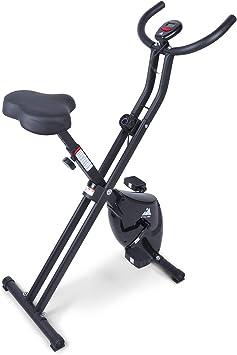 EVOLAND Bicicleta Estática Plegable, Bicicleta Estática de Fitness Multinivel de Resistencia Magnética con Monitor Rítmo Cardíaco para Ejercicio ...
