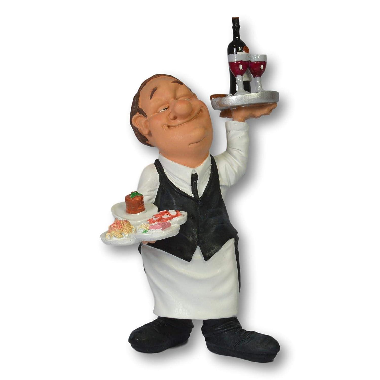 Warren Stratford Figura Decorativa de Resina Pintada a Mano Dise/ño de Chef. Alto de 195 mm