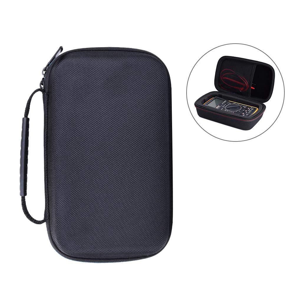 Estuche para mult/ímetro digital estuche de almacenamiento para el mult/ímetro digital Fluke F117C // F17B // F115C funda protectora de la bolsa de transporte EVA PU Hard Travel negro