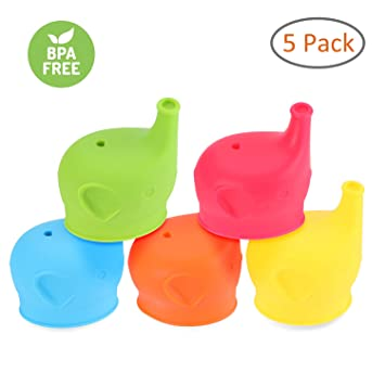 Reusable Universal Silicone Spill-Proof Sippy Cup Straw Lids Glassware Lid NEW L