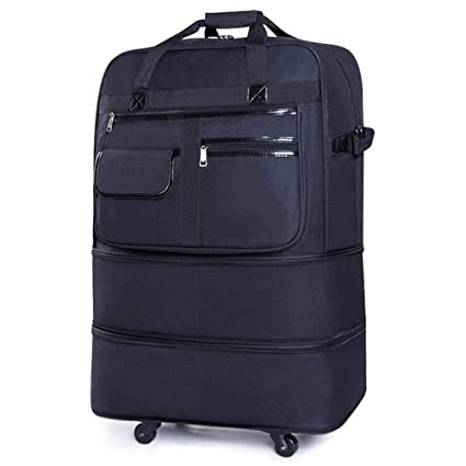 Casual ligero extensible equipaje de mano plegable de la rueda universal maleta de 5 ruedas rodando