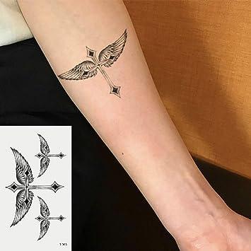 Oottati 2 Hojas Pequeño Lindo Tatuaje Temporal Tattoo Alas ...